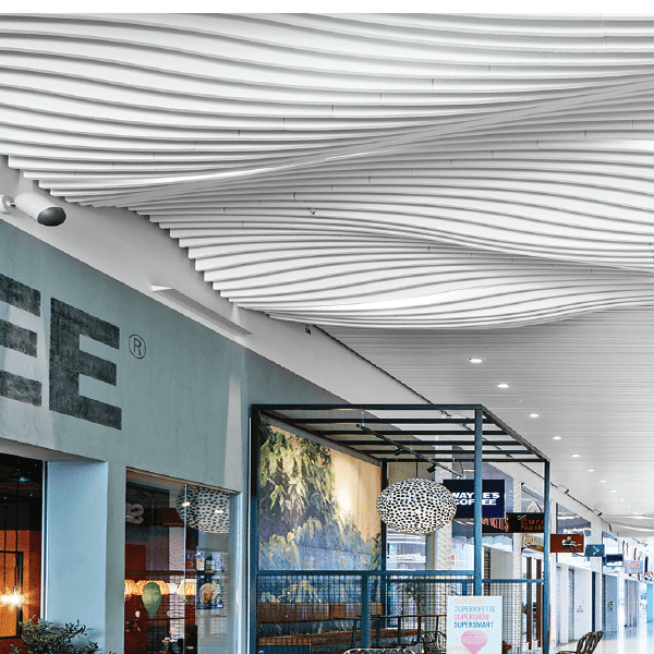Ecophon Solo Baffle Wave acoustic ceiling panels