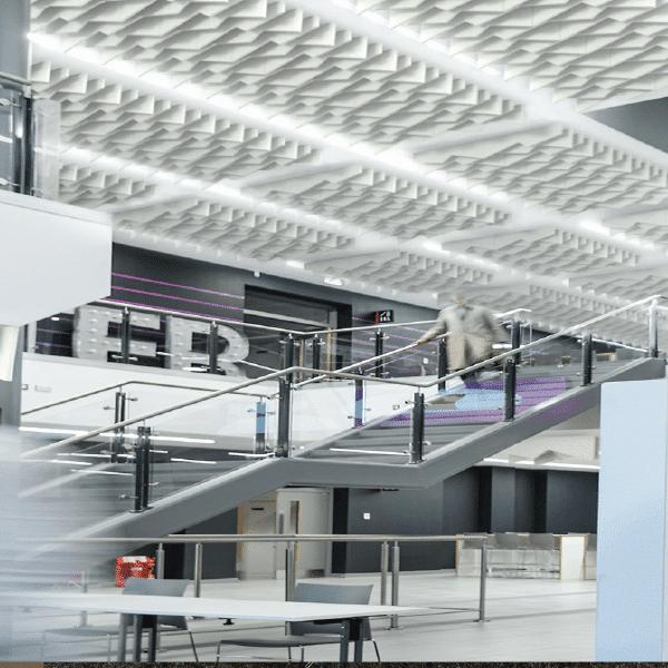 Ecofon Solo Baffle Zig-Zag acoustic ceiling system