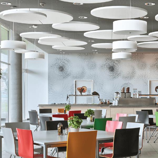 Ecophon Solo Circle acoustic ceiling panel