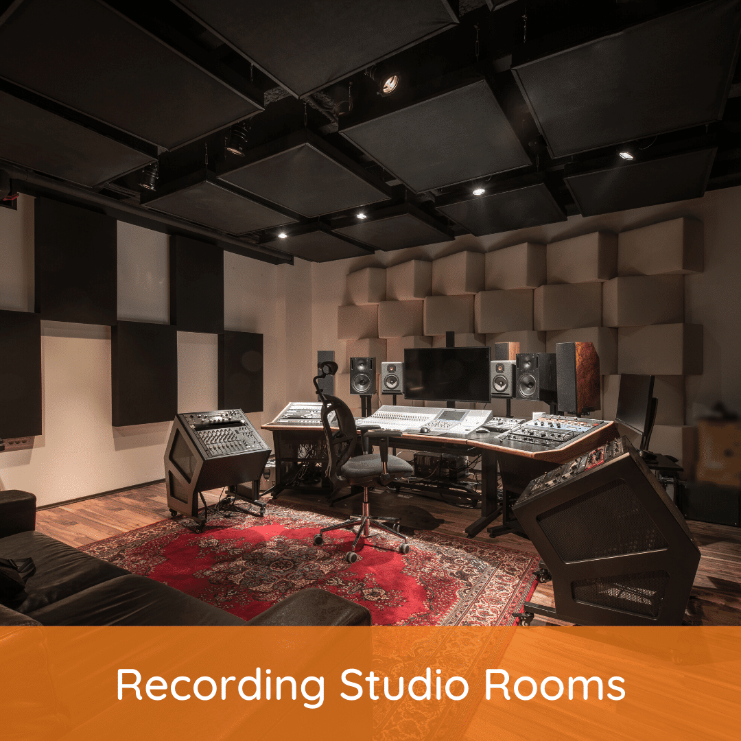 Recording studio rooms feature image