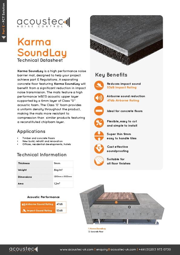 Acoustec Karma Soundlay datasheet 2020